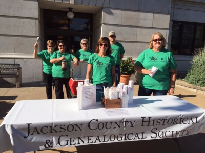 FSB staff serving root beer floats for the Jackson County Historical Society at Cruise Night!